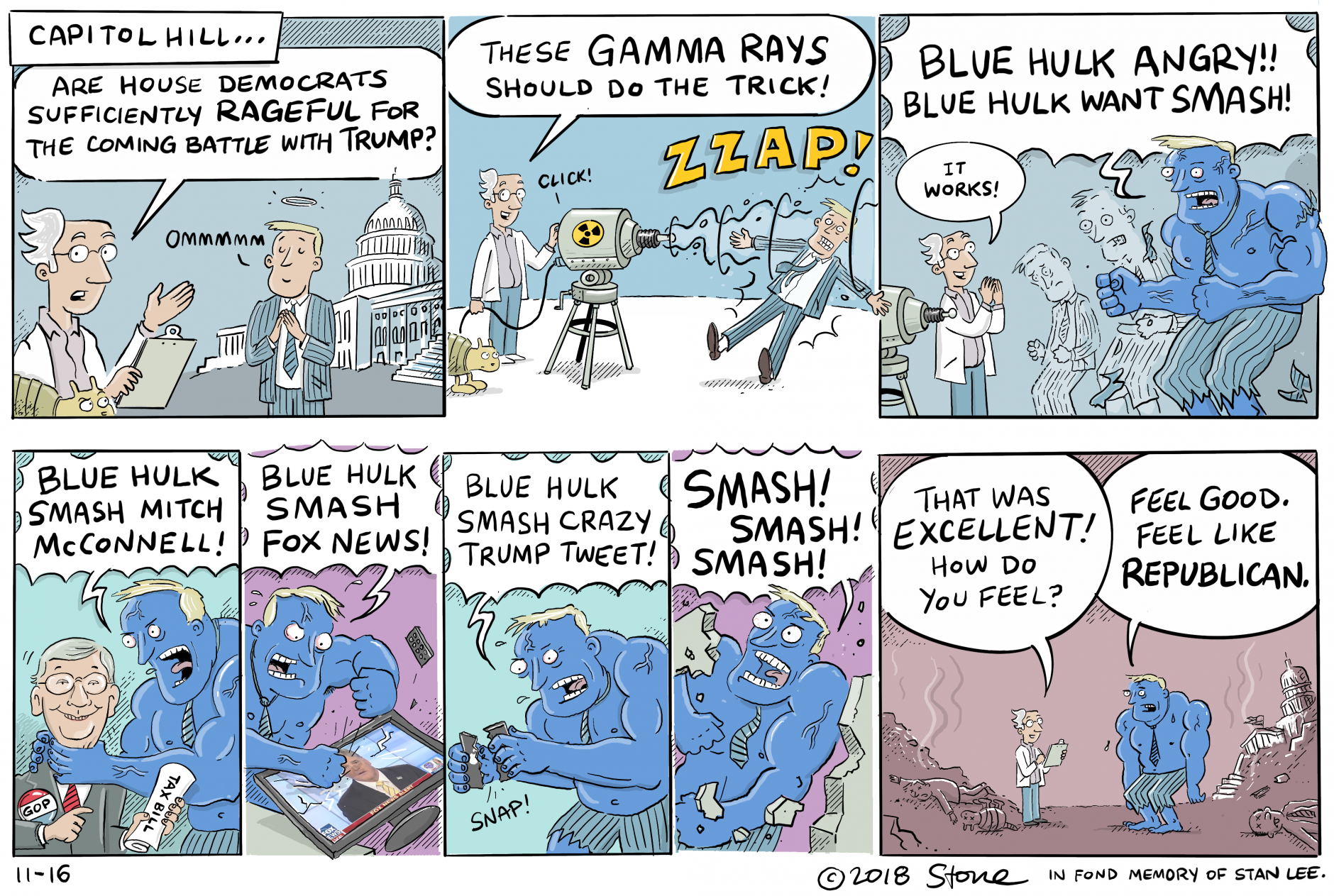 Zeno's Blue #Hulk is a smashing success! In fond memory of #StanLee